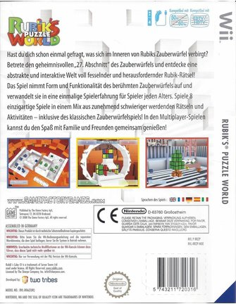 RUBIK'S PUZZLE WORLD for Nintendo Wii