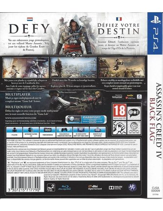 ASSASSIN'S CREED IV (4) BLACK FLAG voor Playstation 4 PS4