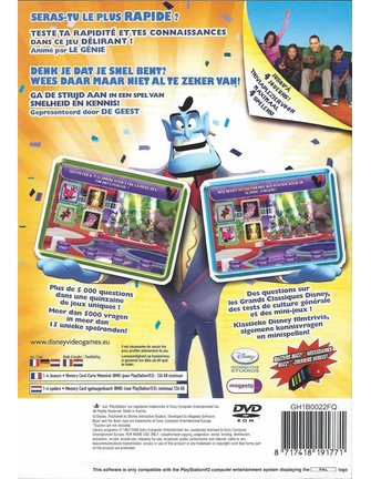 DISNEY THINK FAST voor Playstation 2 PS2