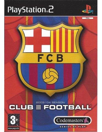 FC BARCELONA CLUB FOOTBALL 2003/04 SEASON für Playstation 2 PS2