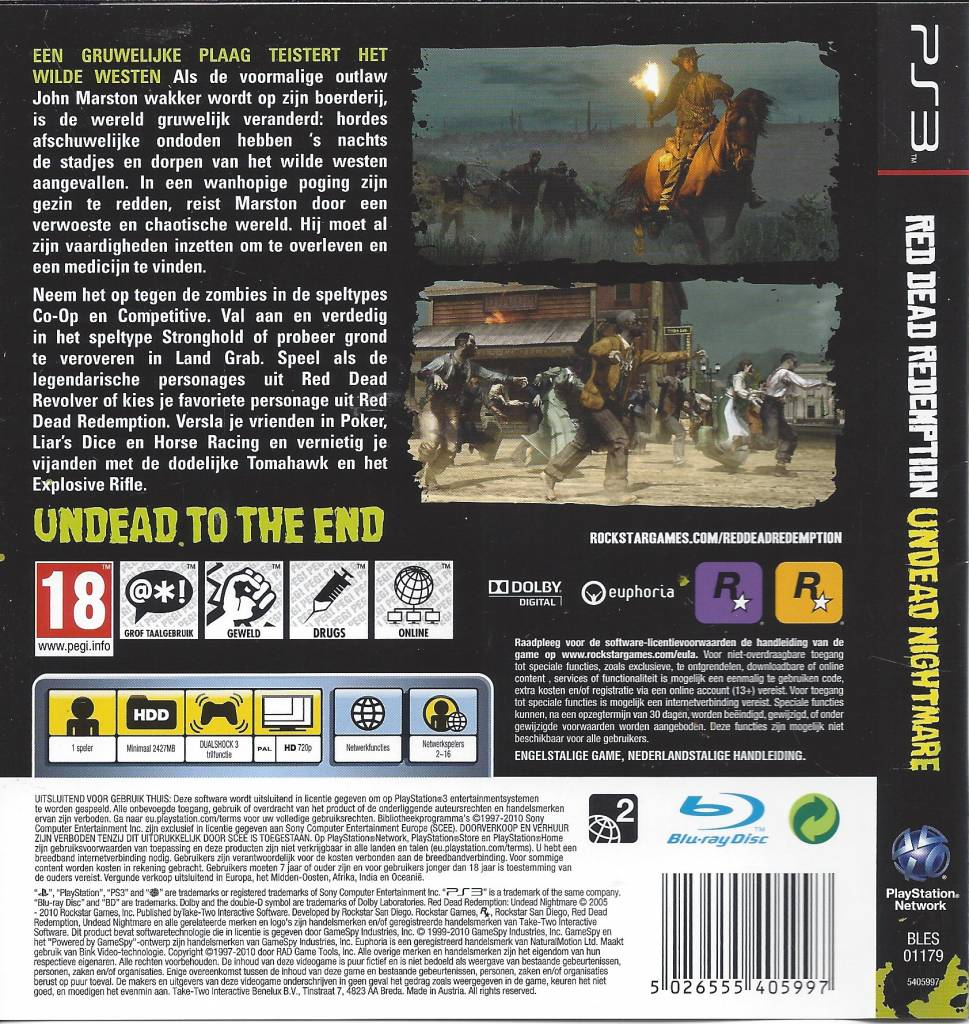 Red Dead Redemption Undead Nightmare for Playstation 3 PS3
