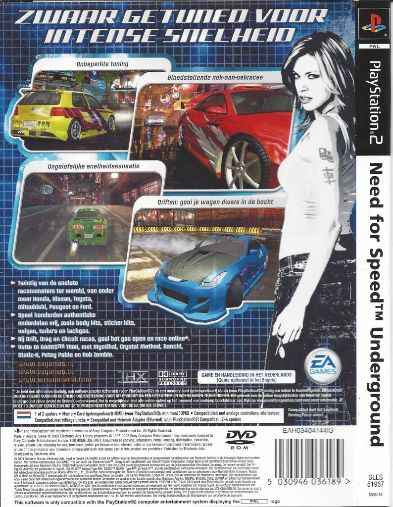 Need For Speed Underground For Playstation 2 Ps2 Passion For