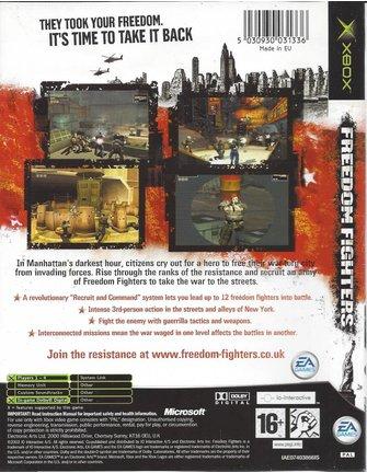 FREEDOM FIGHTERS voor Xbox- manual in EN