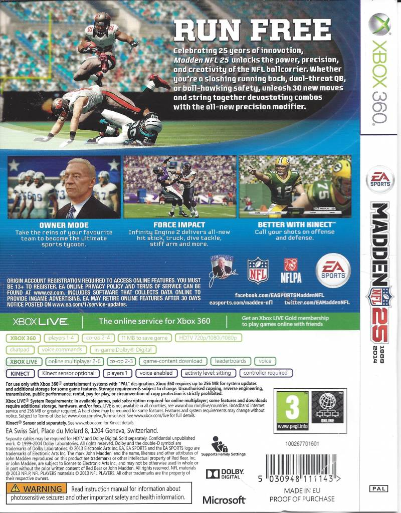 a45cf02e2e9 Madden NFL 25 for Xbox 360 - Passion for Games Webshop - Passion For ...