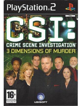 CSI CRIME SCENE INVESTIGATION - 3 DIMENSIONS OF MURDER voor Playstation 2 PS2