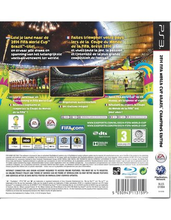 2014 FIFA WORLD CUP BRAZIL CHAMPIONS EDITION voor Playstation 3 PS3