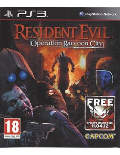 RESIDENT EVIL OPERATION RACCOON CITY voor Playstation 3 PS3