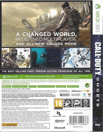 CALL OF DUTY GHOSTS voor Xbox 360