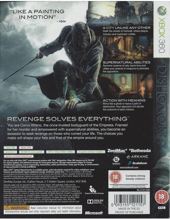 DISHONORED voor Xbox 360