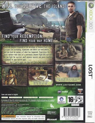 LOST THE VIDEO GAME voor Xbox 360