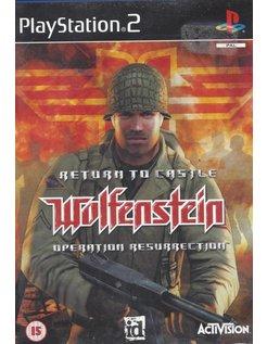 RETURN TO CASTLE WOLFENSTEIN - OPERATION RESURRECTION voor Playstation 2 PS2
