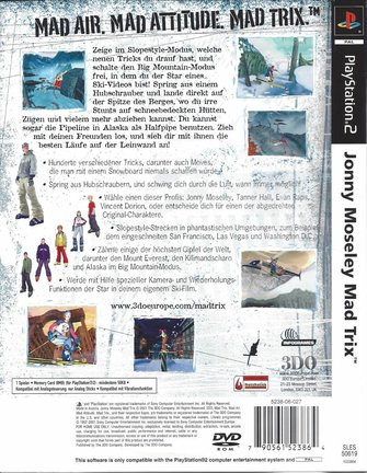 JONNY MOSELEY MAD TRIX voor Playstation 2 PS2