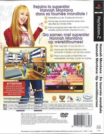 HANNAH MONTANA OP WERELDTOURNEE für Playstation 2 PS2
