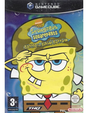 SPONGEBOB SQUAREPANTS BATTLE FOR BIKINI BOTTOM for Gamecube - with box & manual