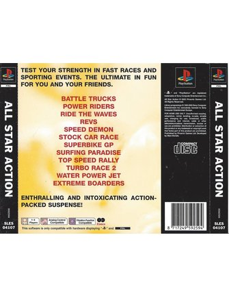 ALL STAR ACTION voor Playstation 1 PS1