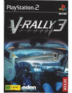 V-RALLY 3 voor Playstation 2 PS2 - handleiding in Scandinavische talen