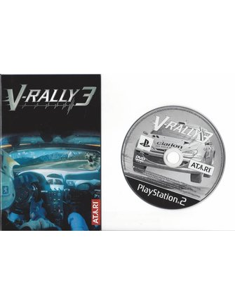 V-RALLY 3 for Playstation 2 PS2 - manual in Scandinavian languages