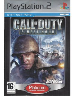 CALL OF DUTY FINEST HOUR voor Playstation 2 PS2 - Platinum