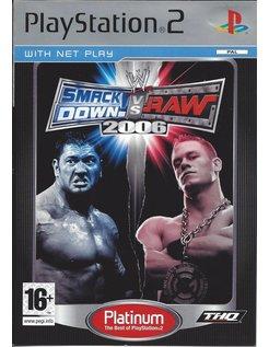 SMACKDOWN VS RAW 2006 voor Playstation 2 PS2 - Platinum