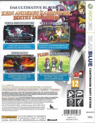 BLAZBLUE CONTINUUM SHIFT EXTEND für Xbox 360