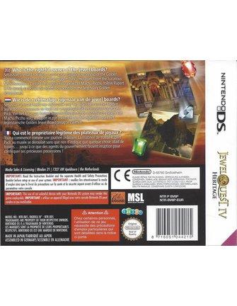 JEWEL QUEST IV (4) HERITAGE voor Nintendo DS