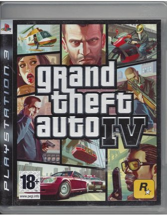 GRAND THEFT AUTO IV GTA (4) for Playstation 3 PS3 - with box, map & manual