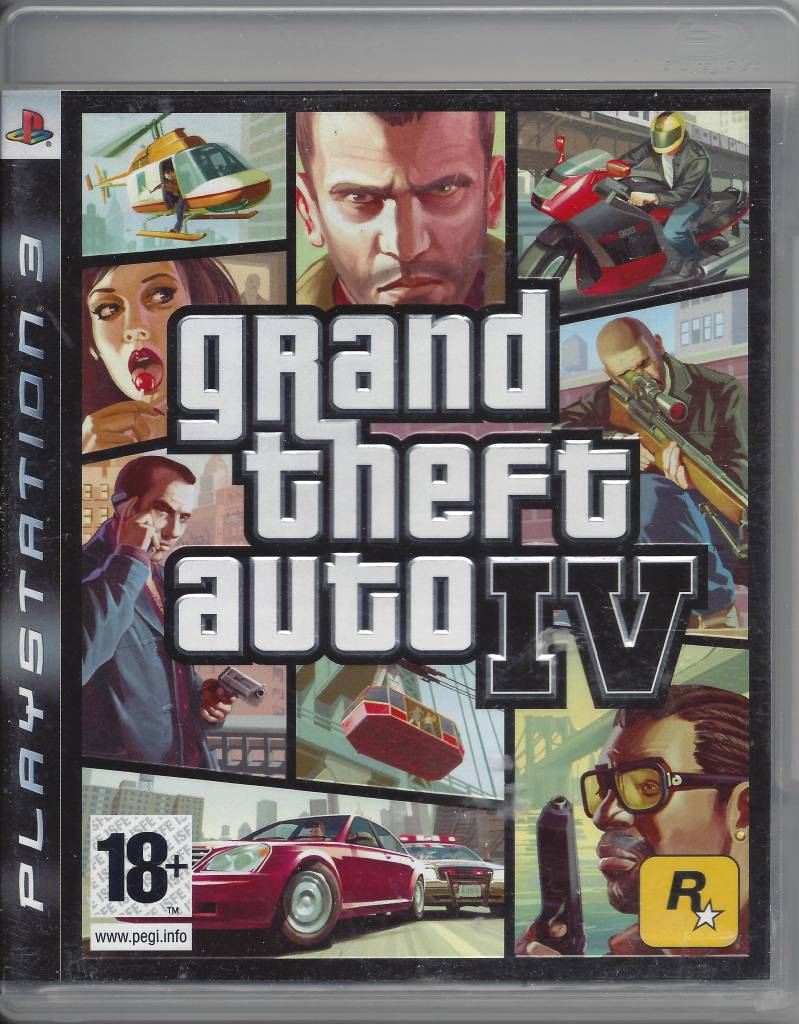 GRAND THEFT AUTO IV GTA (4) for Playstation 3 PS3 - with box