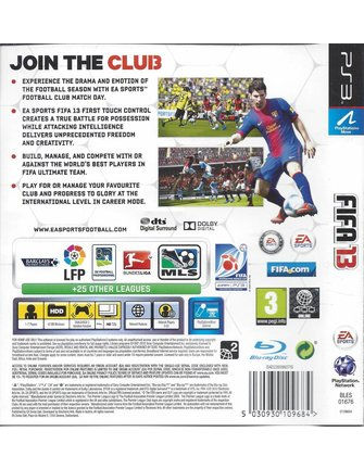 FIFA 13 for Playstation 3 PS3 - Engels