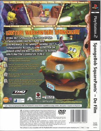 SPONGEBOB SQUAREPANTS DE FILM for Playstation 2 PS2