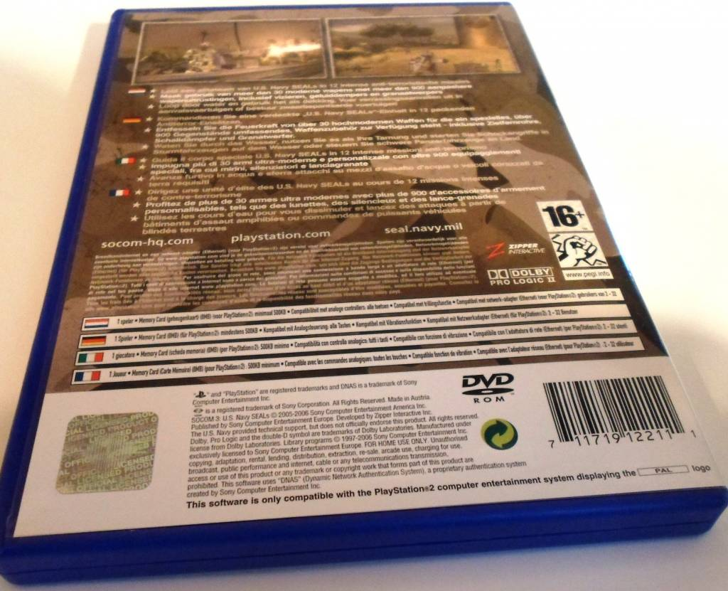 SOCOM 3 US NAVY SEALS for Playstation 2 PS2 - with box