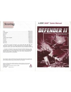 MANUAL for ATARI 2600 GAME CARTRIDGE DEFENDER II (2)