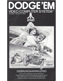 MANUAL for ATARI 2600 GAME CARTRIDGE DODGE 'EM DUTCH