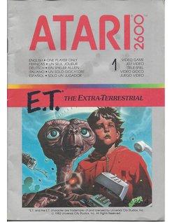 MANUAL voor ATARI 2600 GAME CARTRIDGE E.T. THE EXTRA TERRESTRIAL