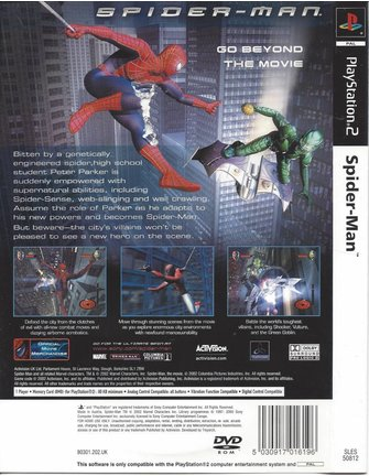 SPIDER-MAN for Playstation 2 PS2