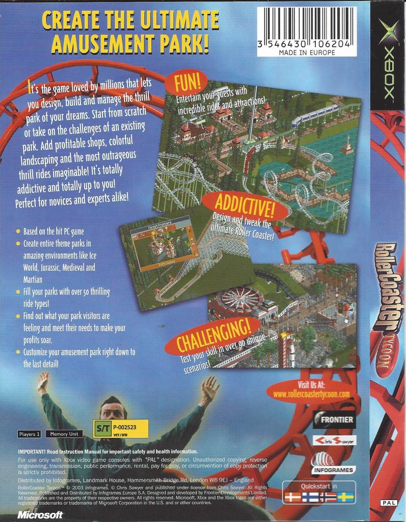 Rollercoaster Tycoon for Xbox - Passion for Games Webshop - Passion