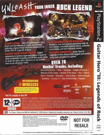 GUITAR HERO III (3) LEGENDS OF ROCK voor Playstation 2 PS2
