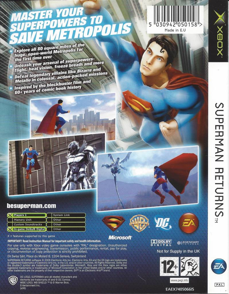 Superman Returns for Xbox - Passion for Games Webshop