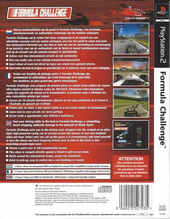 FORMULA CHALLENGE voor Playstation 2 PS - manual in EN FR