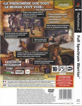 FULL SPECTRUM WARRIOR voor Playstation 2 PS