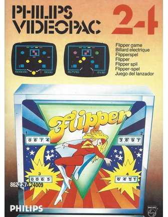 PHILIPS VIDEOPAC G7000 GAME 24 - FLIPPER GAME with box & manual