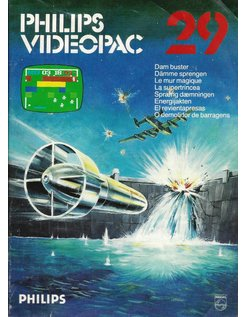 PHILIPS VIDEOPAC G7000 GAME 29 - DAM BUSTER