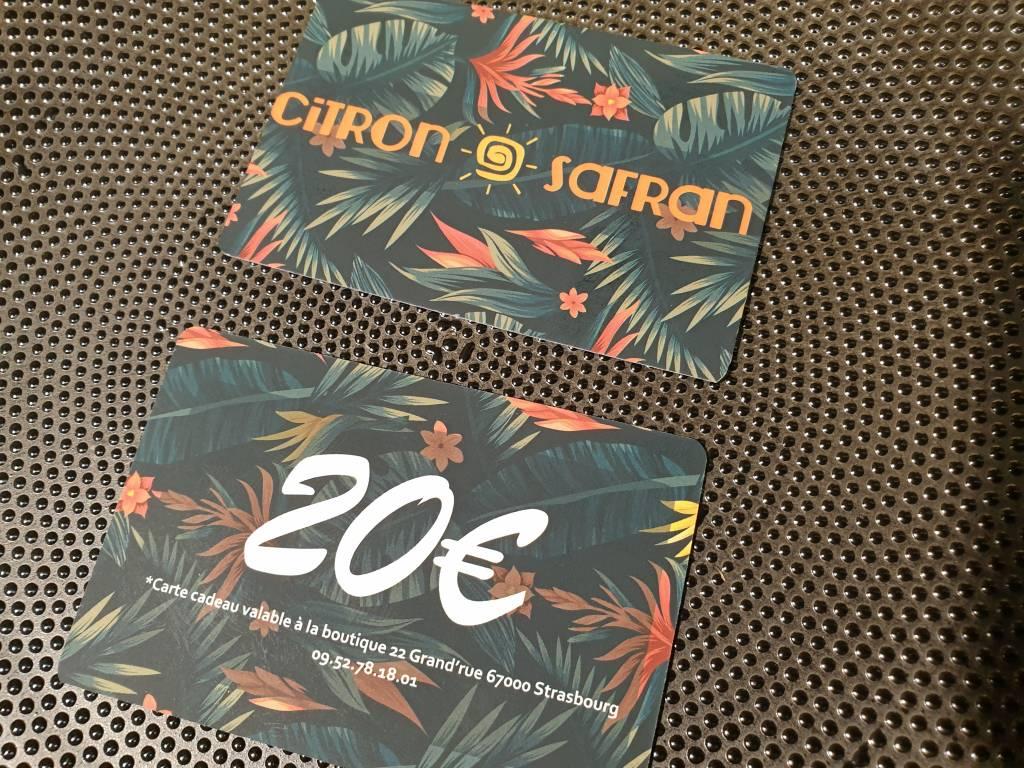 CARTE CADEAU CITRON SAFRAN 20€