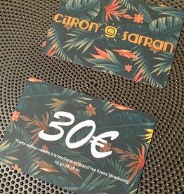 CARTE CADEAU CITRON SAFRAN 30€