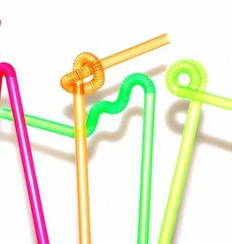 Trinkhalm Neon Kreativ mit langer Flexzone