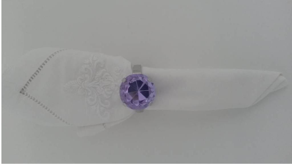 Serviettenring, 4er-Set, violett