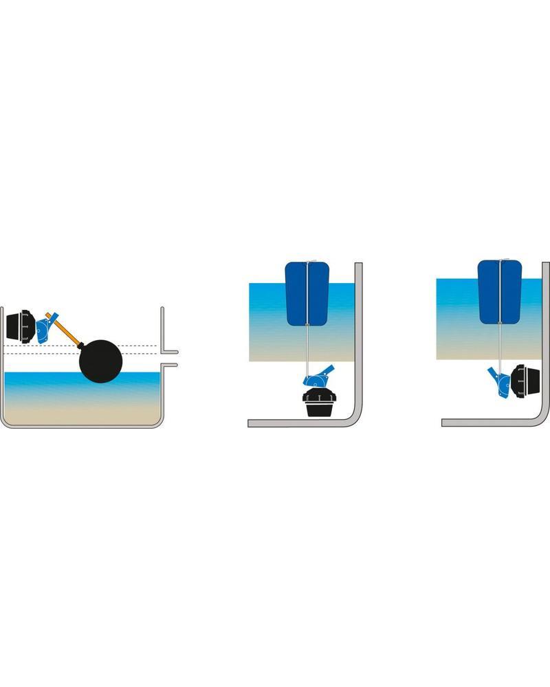 Beheizbare Edelstahl-Trogtränke mit Bodengestell 100 cm