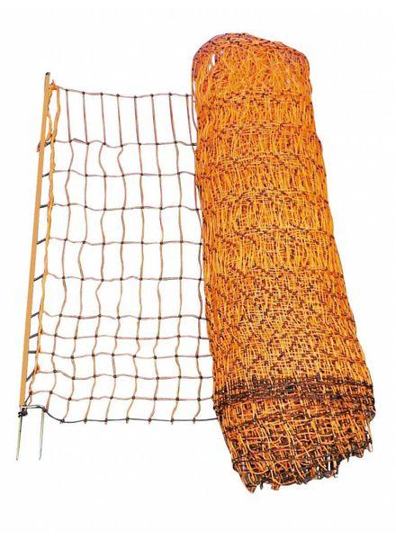 Geflügelnetz orange elektrifizierbar 112 cm Einzel oder Doppelspitze
