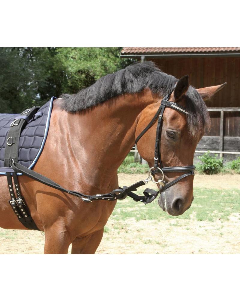 Ausbindezügel, schwarz Größe Pony