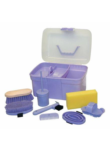 Putzbox befüllt f.Kinder, lila