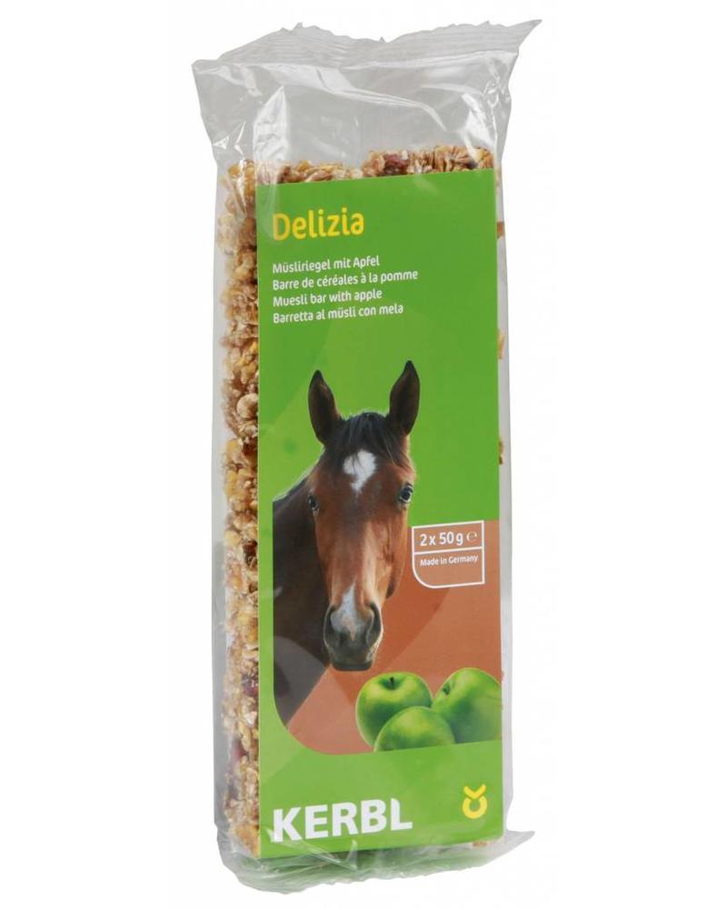 Delizia Müsliriegel für Pferde Apfel, 2x50g